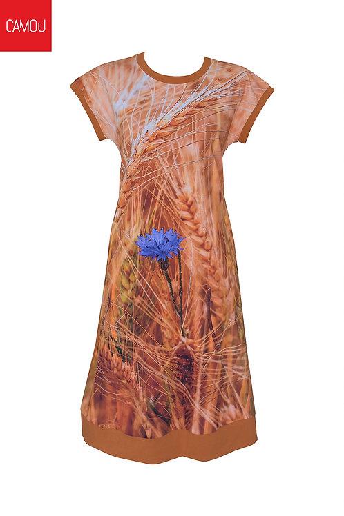 Camou // Megkötős búzavirágos ruha