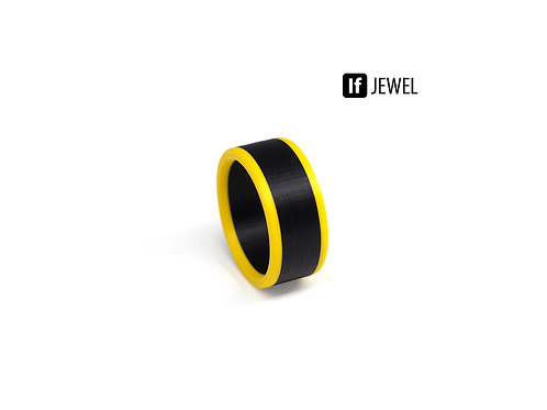 If Jewel // Flag II. gyűrű - fekete