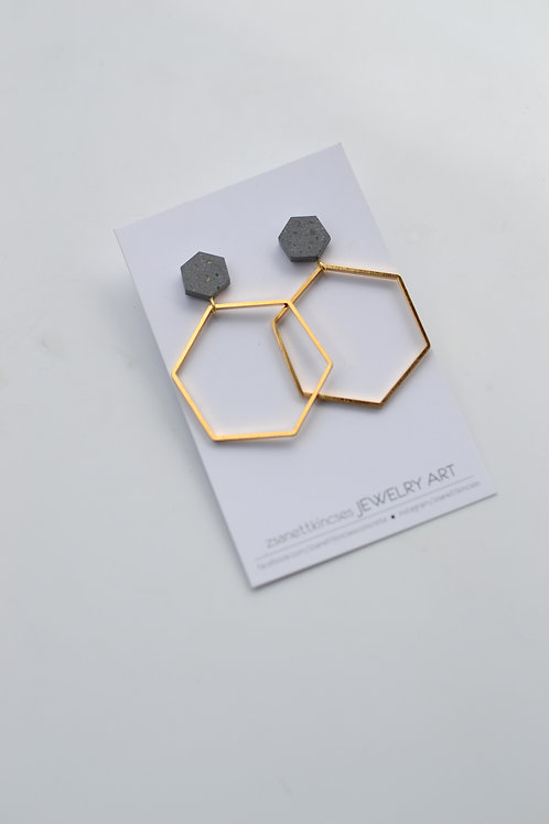 zsanettkincses // Geolo Concrete arany hatszög szürke elemmel