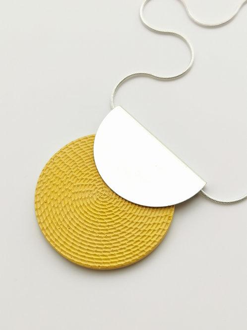 zsanettkincses // Félkör betétes nyaklánc sárga