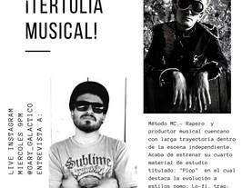 LA TERTULIA MUSICAL entre Gary Galáctico y Método Mc