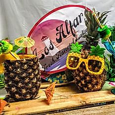 Virgin Piña Colada in a Pineapple