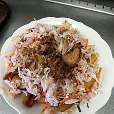 Yuca Frita (Fried Cassava) Pork