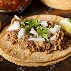 Pork (Carnitas) Tacos Qty (1)