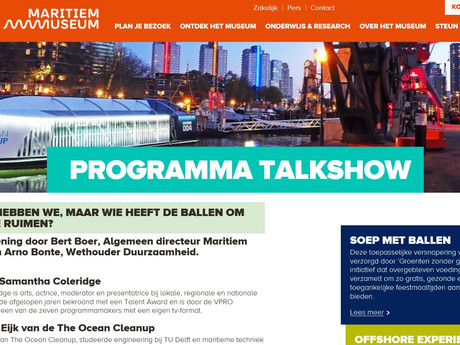 Online Discription of the Talkshow I hosted called 'The Plastic Soup'  A live Talkshow taking place in Maritiem Museum in Rotterdam, created to talk to innovators in the Marine Industry who are trying to clean up our waters using their creativity and knowledge of Marine Innovations.
