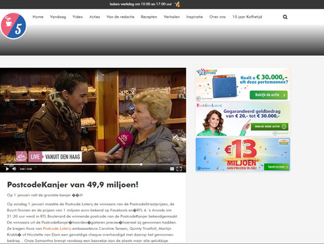 One of many Live Reports as a live on screen reporter for daily morning show RTL Koffietijd. In this specific item, we went into a neighbourhood full of winners of 49,9 milion euros also known as the Postcodekanjer