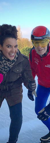 Reporting on the thickness of artificial ice skating rings during the winter season for RTL Koffietijd.  Editor, TV Reporter - RTL Koffietijd