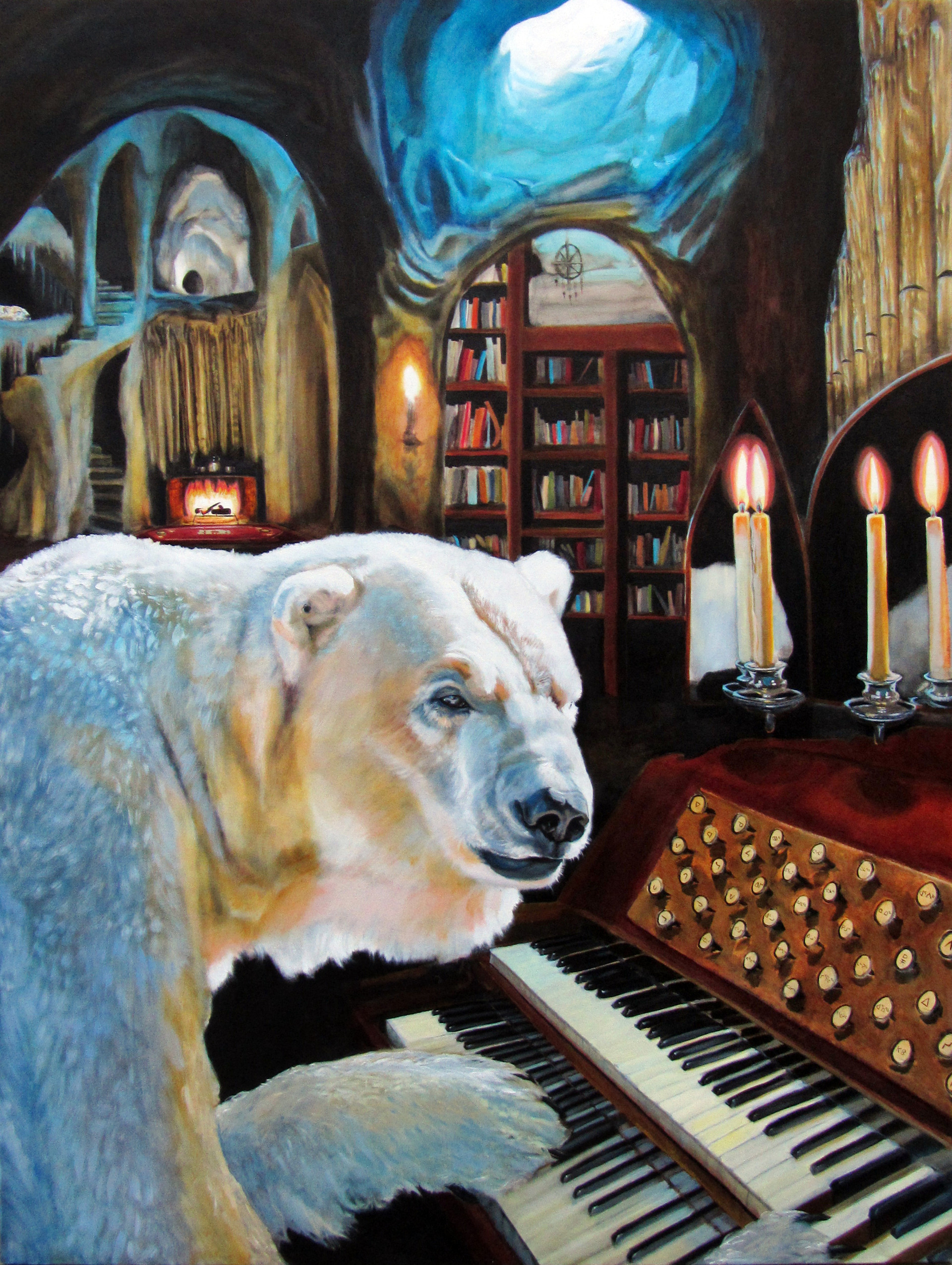 """""""The Polar Ice Cathedral"""" oil on canvas 200 x 150cm 2013"""