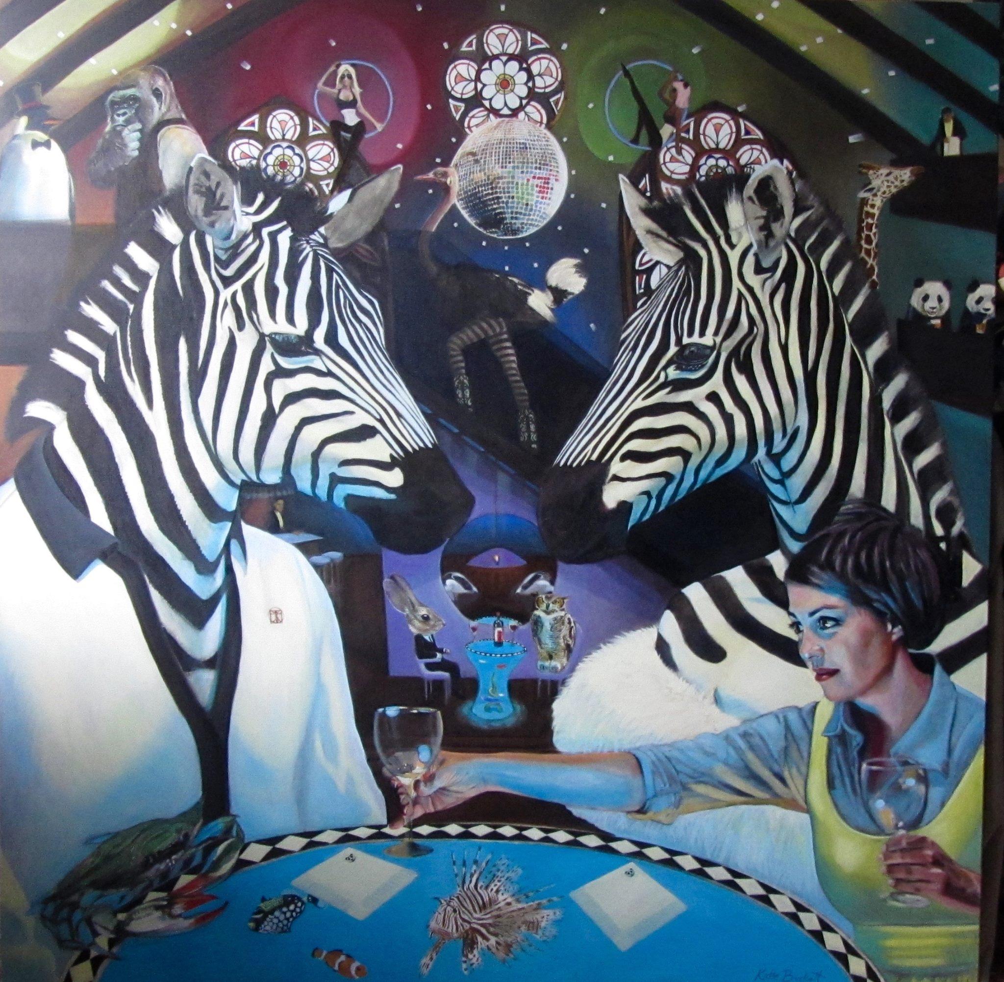 Drinks In The Panda Bar (Zebras)