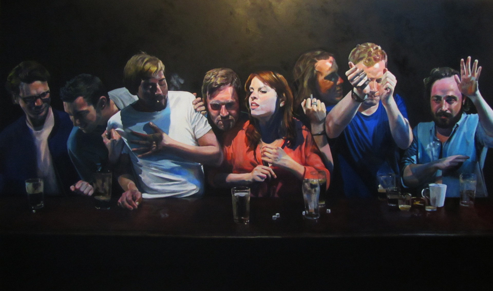 """""""The Last Round"""" oil on canvas 250 x 150 cm 2014"""