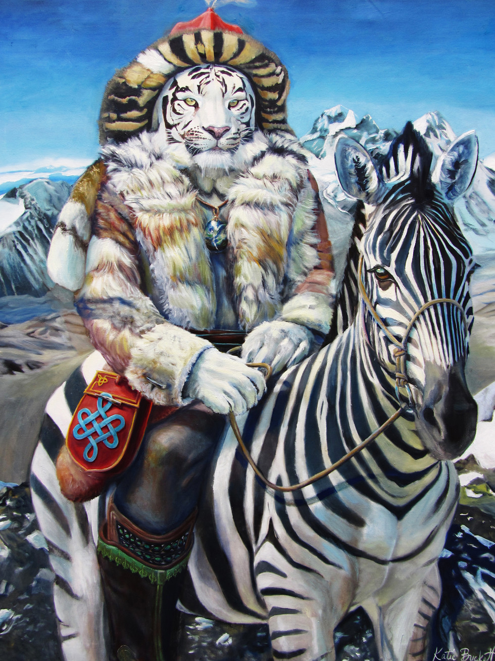 """""""The Hunter"""" oil on canvas 153 x 122 cm 2013"""
