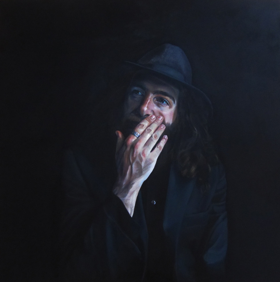 """Pat Dam Smyth"" oil on canvas100 x 100cm 2014"