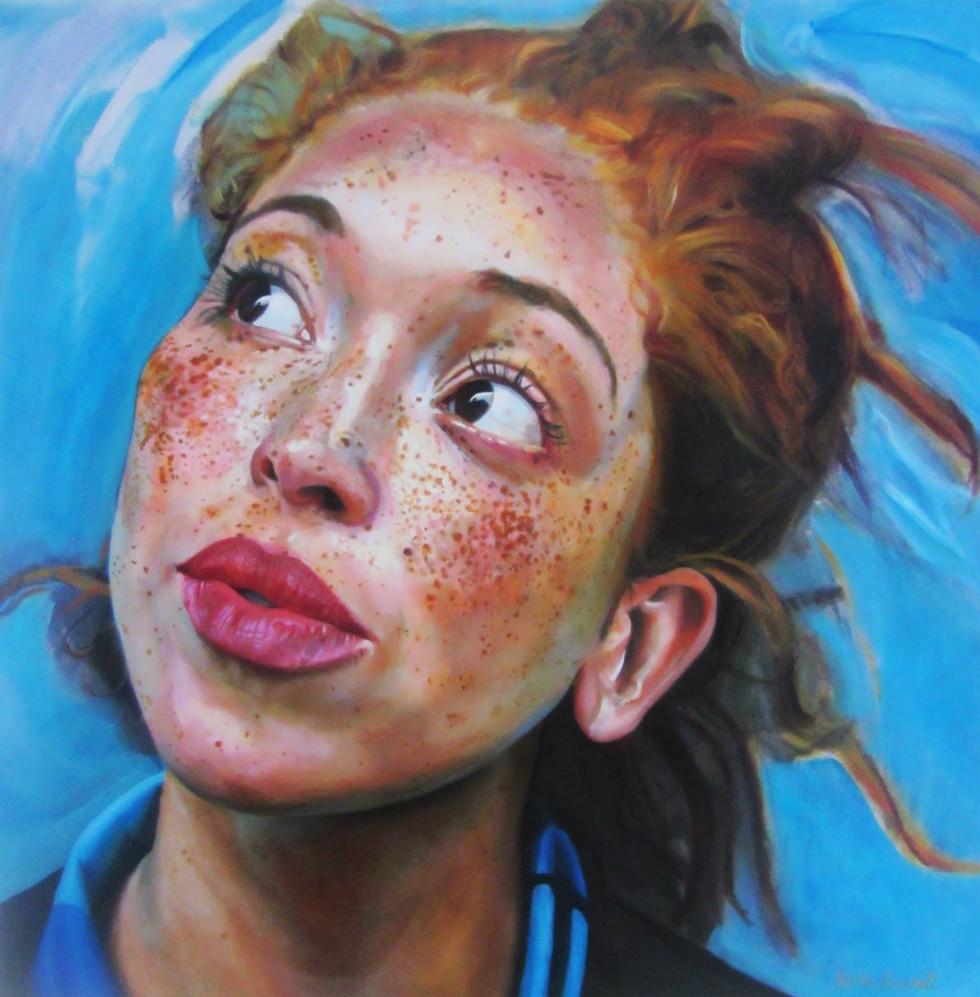 """Natasha"" oil on canvas 76 x 76 cm 2014"