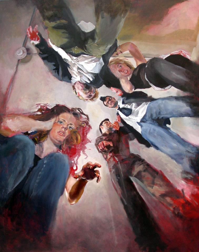 """Room 316"" oil on canvas 153 x 122 cm 2007"