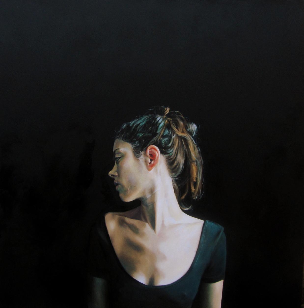 """""""An Ear for Murakami"""" oil on canvas 100 x 100 cm 2014"""