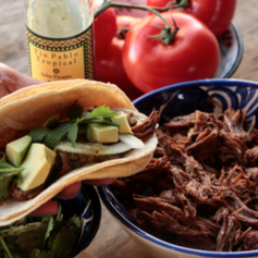 SLOW COOKED PULLED BEEF TACOS
