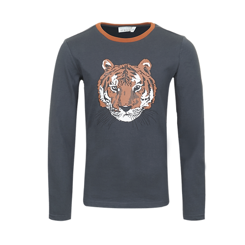 Mini Rebels Longsleeve Antraciet Tiger