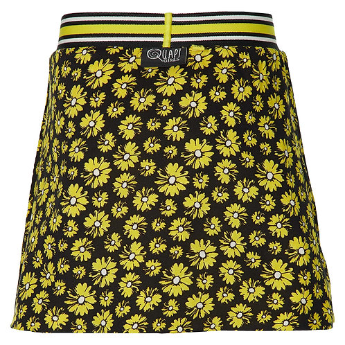 Quapi Filijn Skirt Yellow/Black Flowers