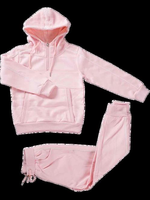 Jogging Roze Wit Afgelijnd