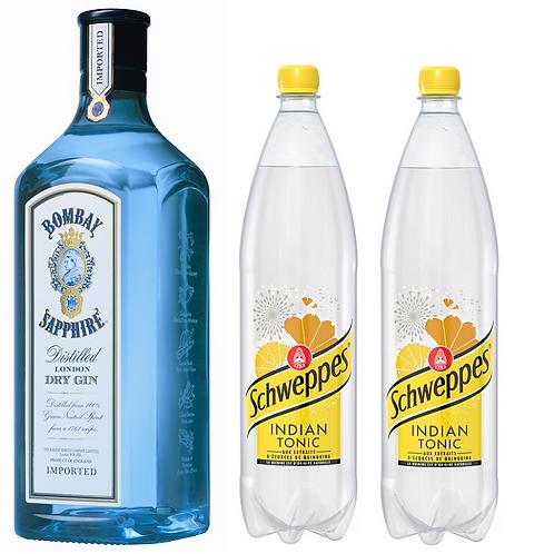 1 Bombay Sapphire 70cl + 2 Tonics 1.5l