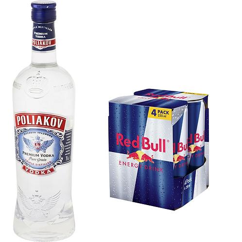 1 Poliakov 70cl + 4 redbulls 25cl