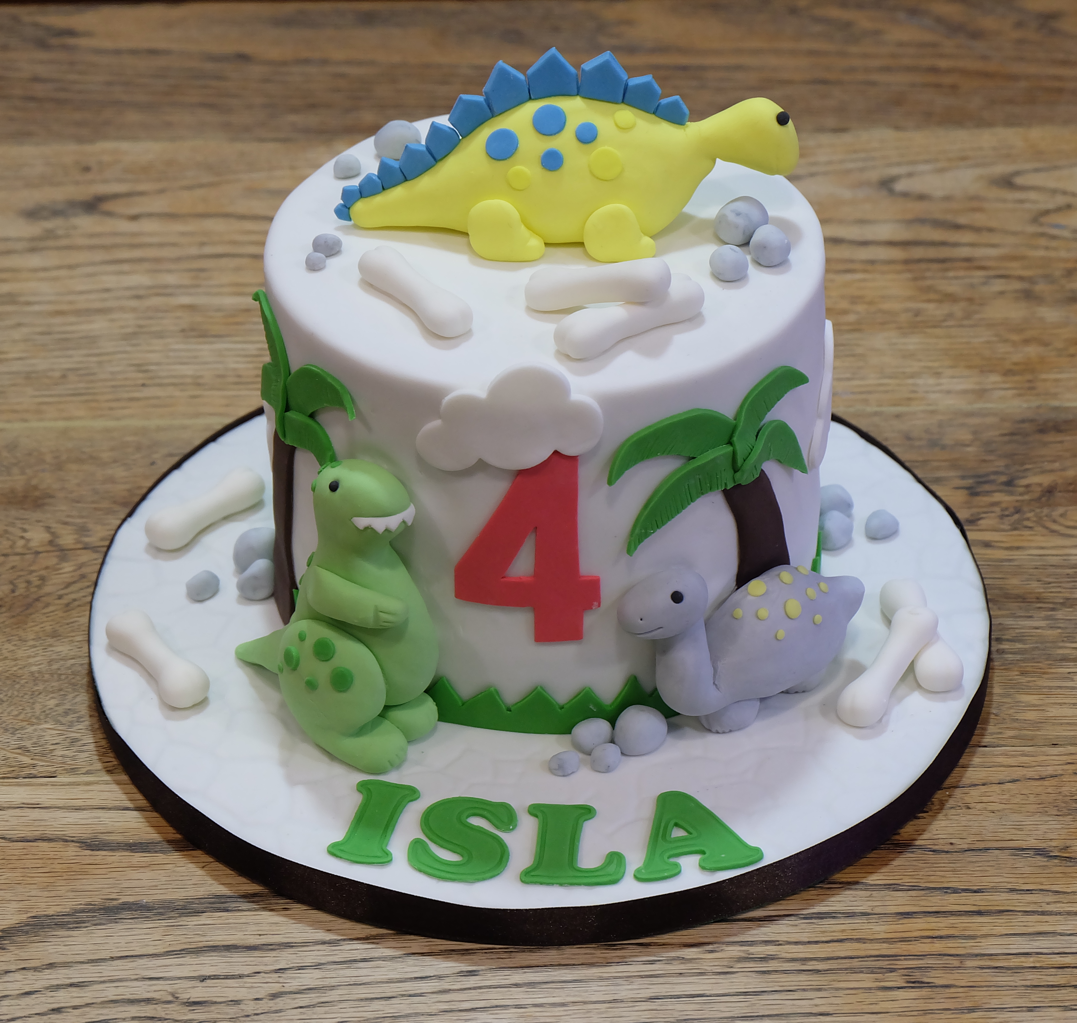 Dinosaur Themed Birthday Cake  2
