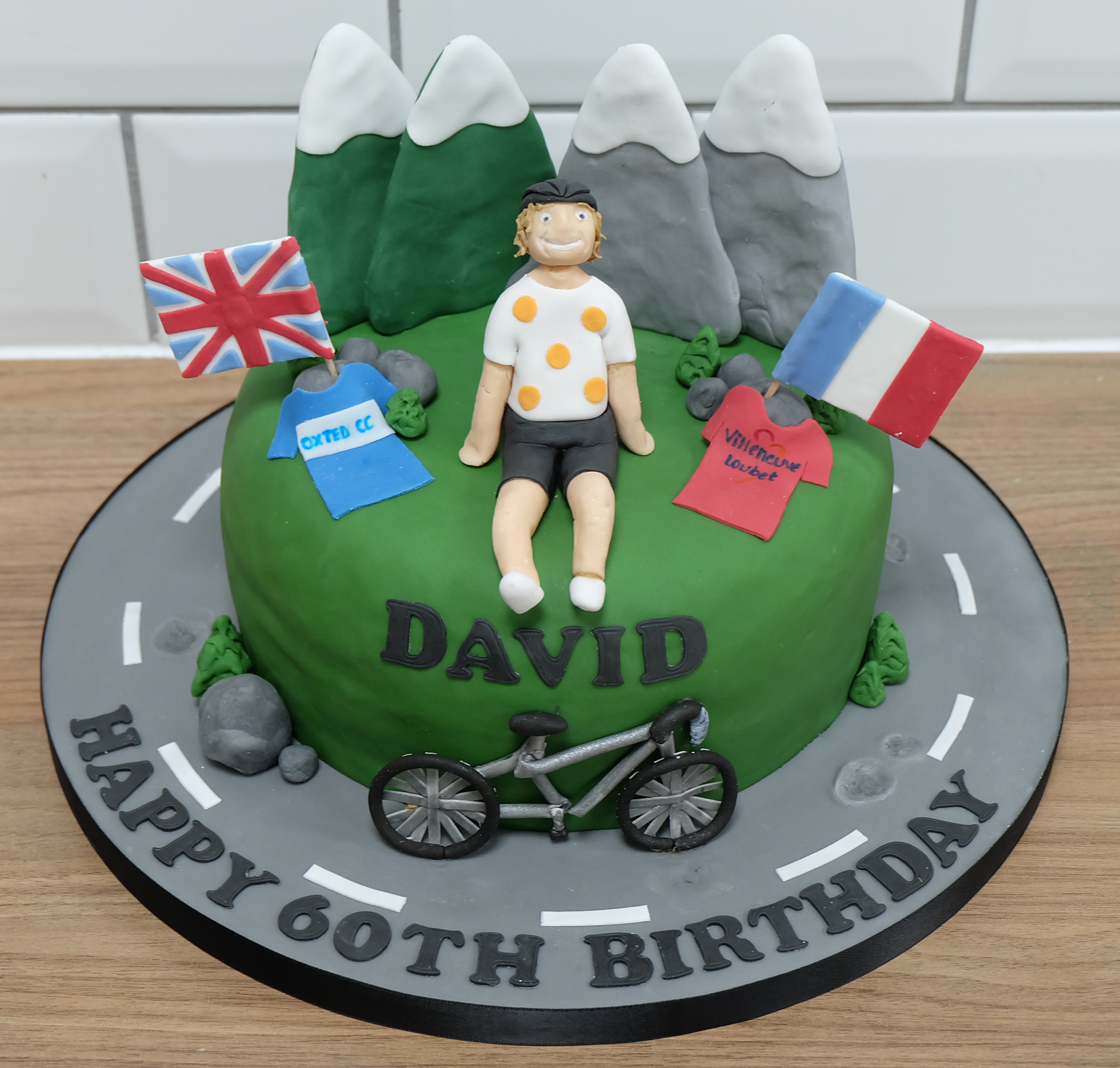Mountain Road Cycling Birthday Cake