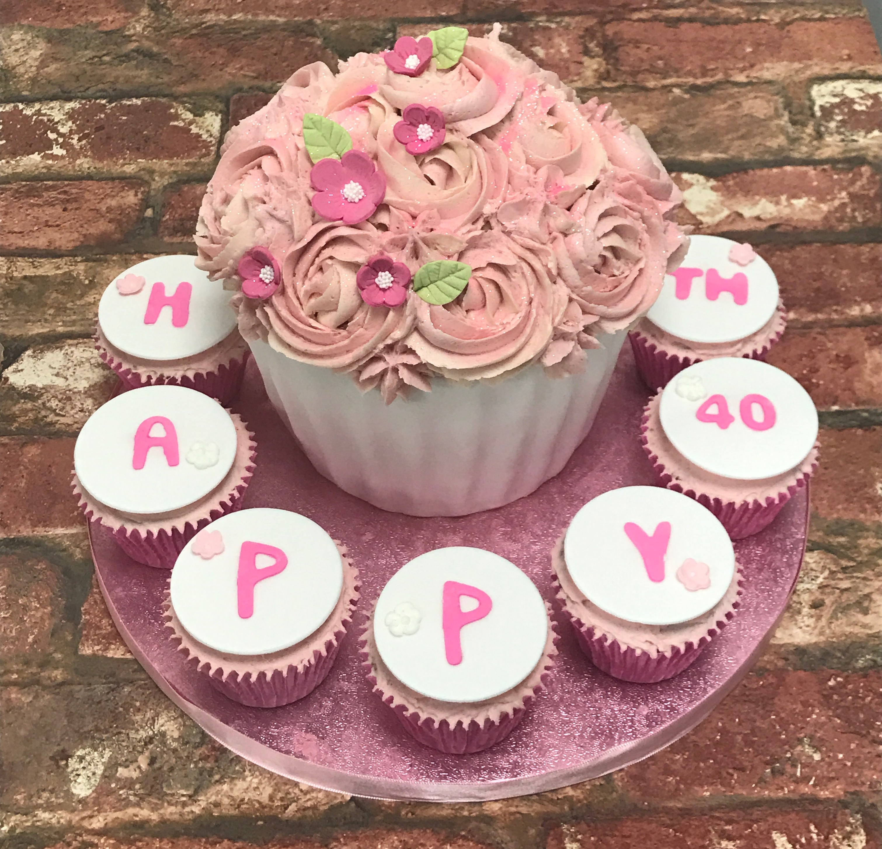 Giant Cupcake Birthday Cake