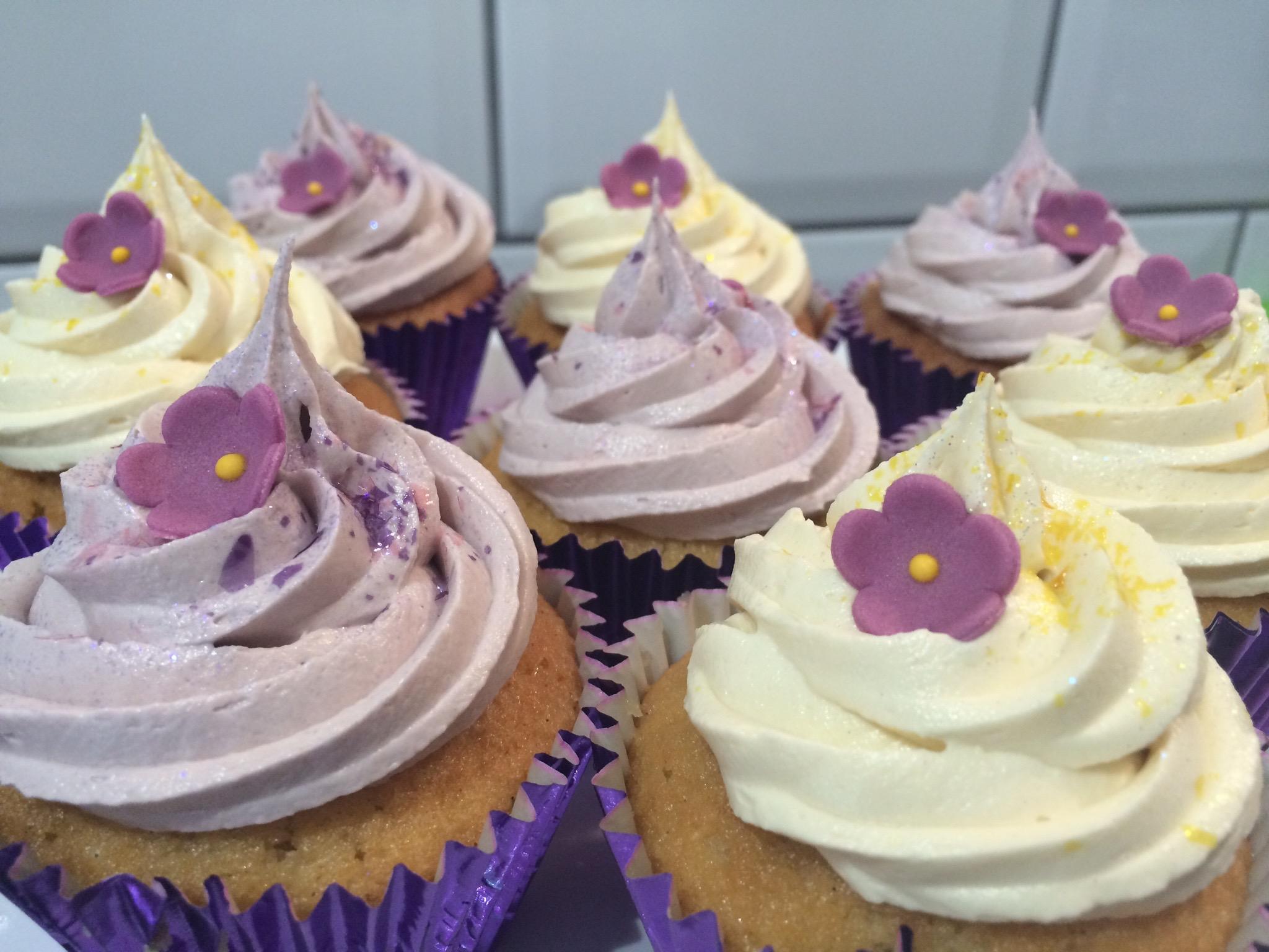 Purple Swirl Cupcakes