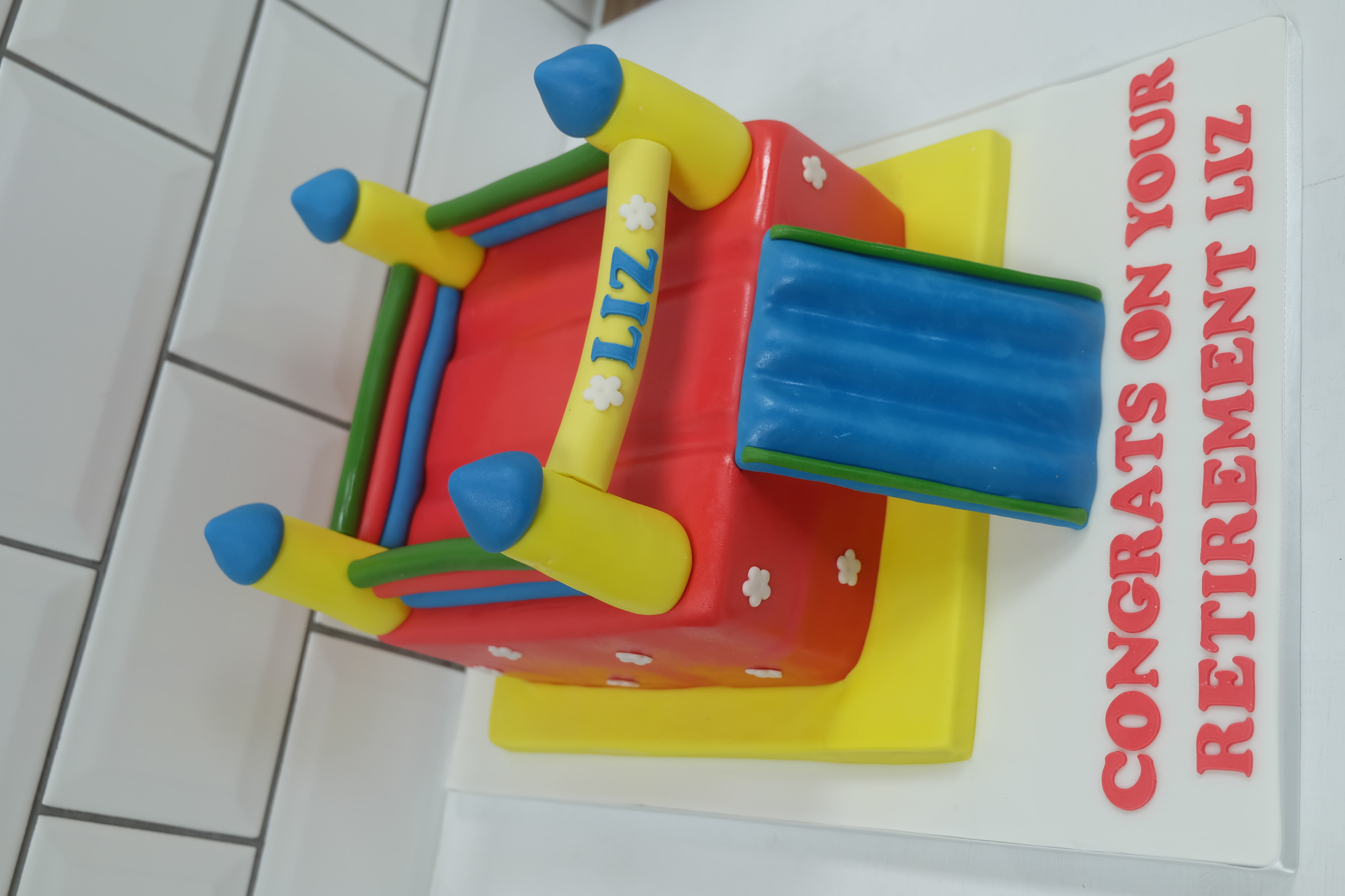 Bouncy Castle Cake 3