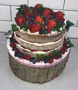 Fruit and Ivy Naked Cake
