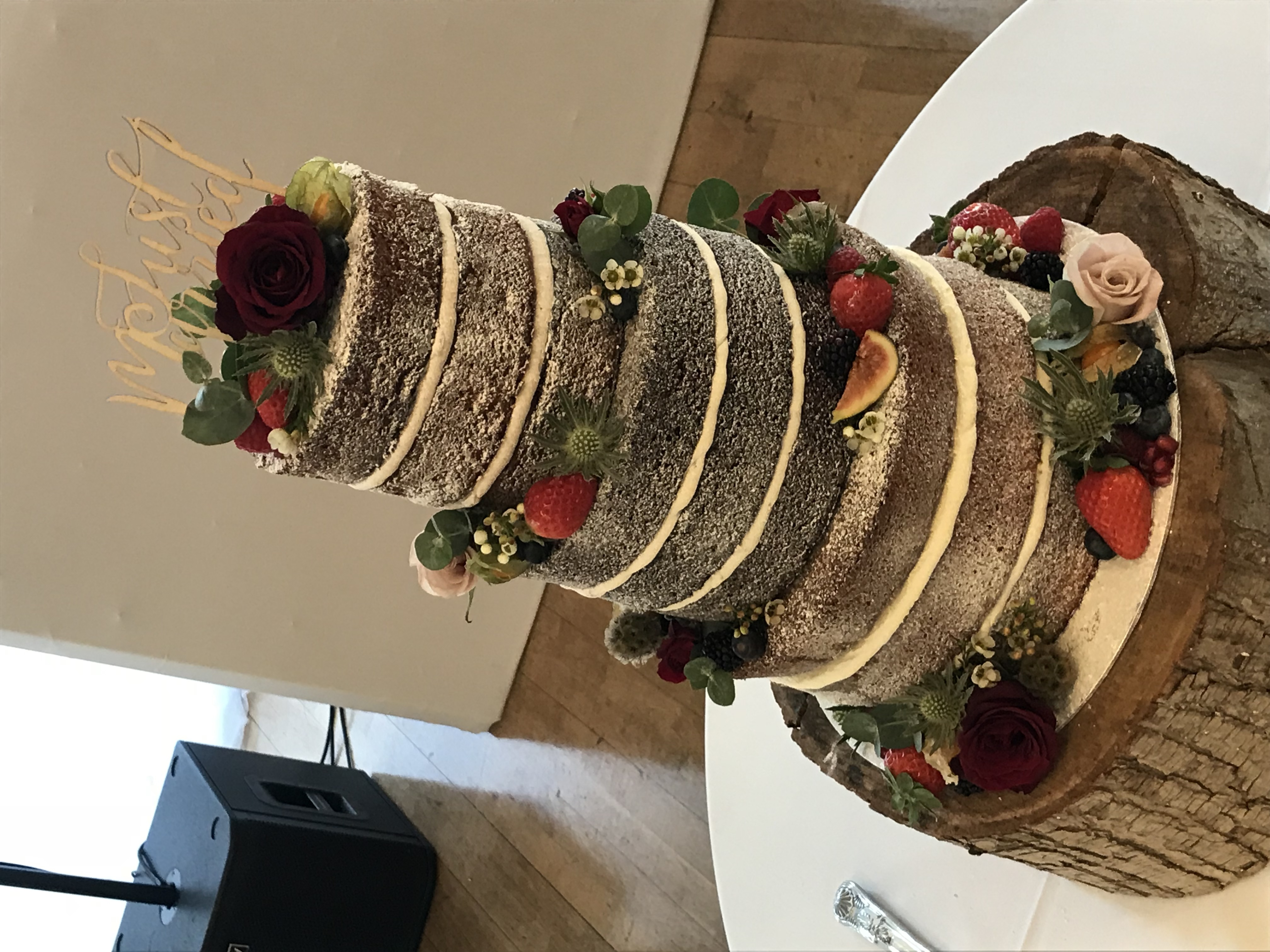 Multi Flavour Naked Wedding Cake