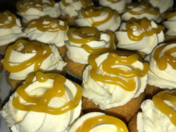 Mini White Choc and Passionfuit  Cupcakes