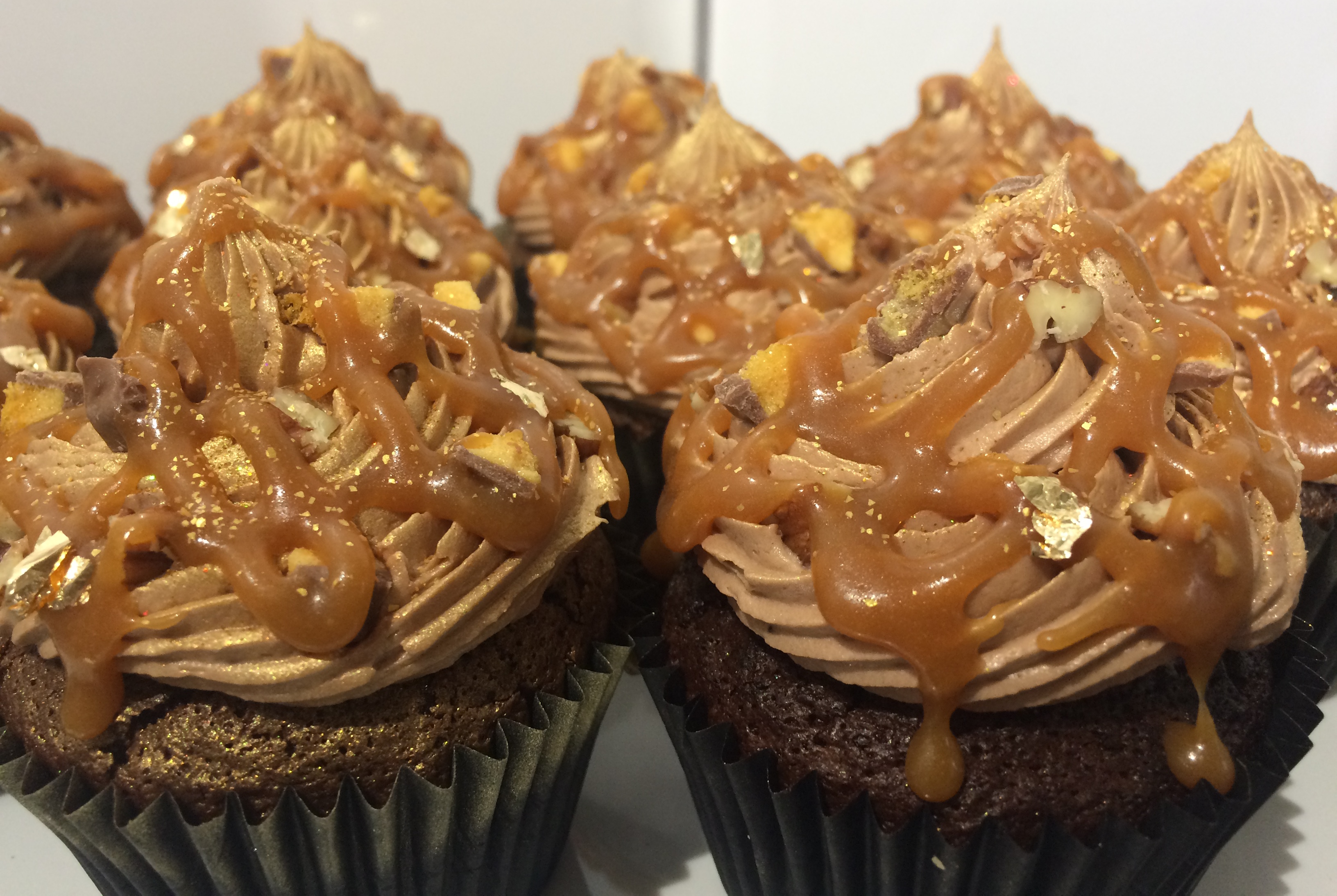 Chocolate, Salted Caramel and Pecan Cupcakes2