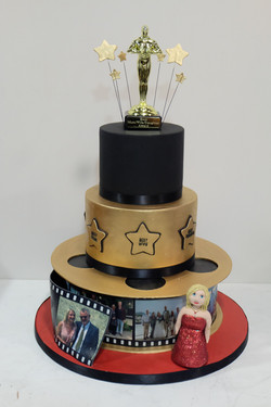 Red Carpet Oscars Birthday Cake 4