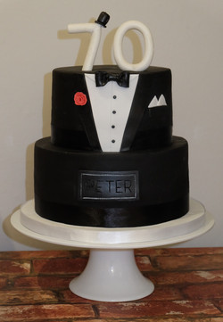 70th Tuxedo Cake