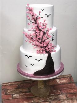 Cherry Blossom Tree Wedding Cake