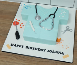 Doctors Scrubs Birthday Cake