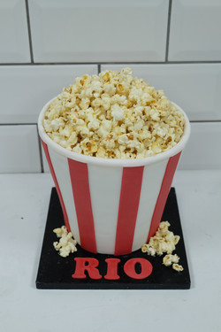 Cinema Popcorn Birthday Cake JPG