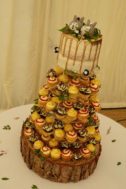 Mini Cupcake Tower with Semi Naked Top T