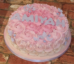 Buttercream Roses Butterfly Cake
