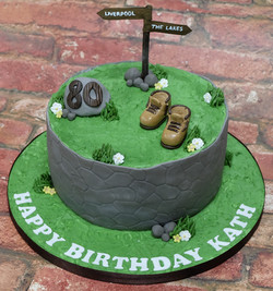 Rambling Themed Birthday Cake2