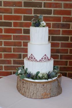3 Tier Buttercream Wedding Cake wtih Lat
