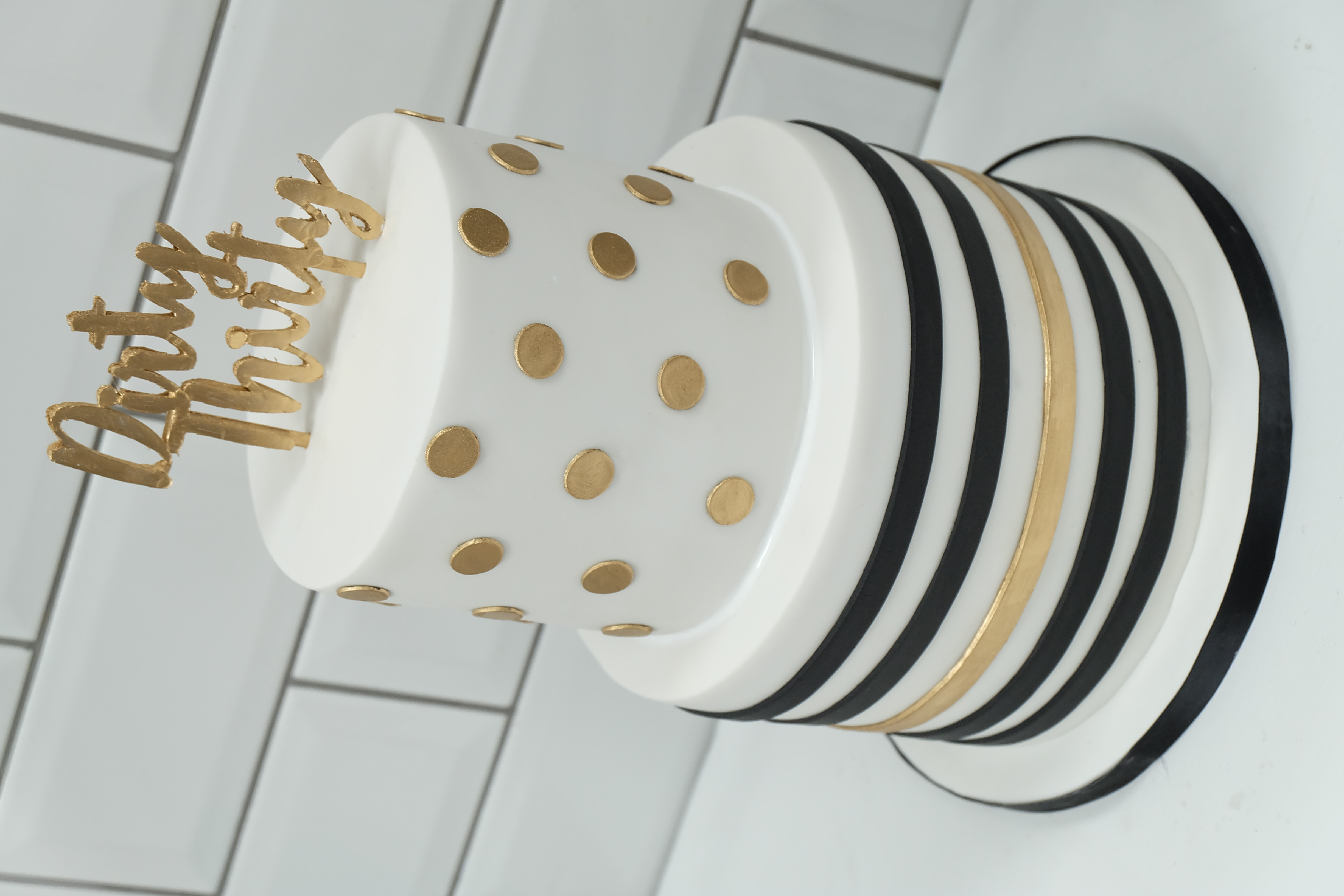 Gold and Black BIrthday Cake