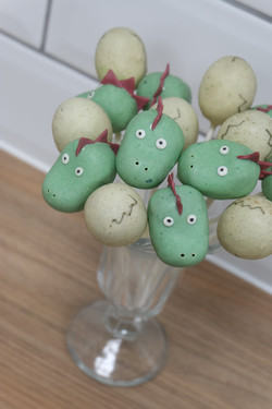 Dinosaur and Dinosaur Egg Cake Pops 2