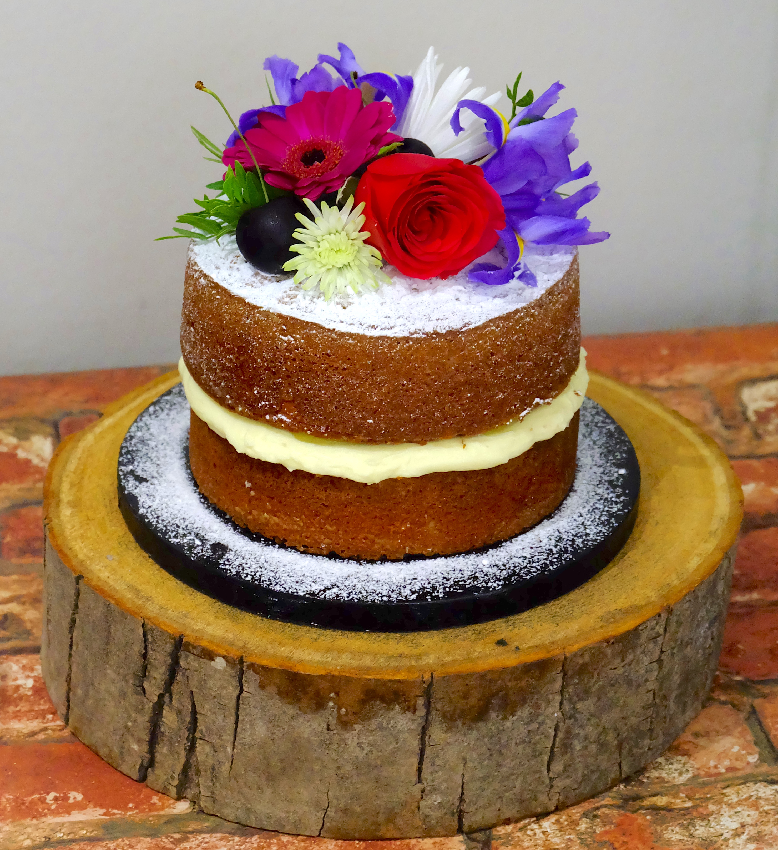Fresh Flowers Mini Cake