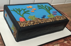 Fish Tank Birthday Cake 2