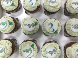 Childrens Reptile Party Cupcakes