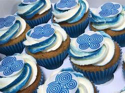 Blue Corporate Cupcakes