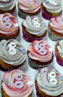 Pink and Lilac Swirl Cupcakes